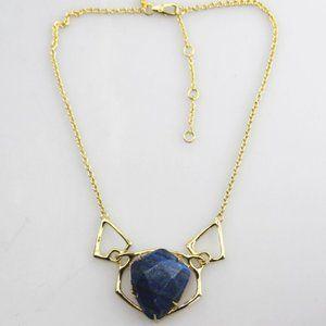 alxis bitter bule stone 18k necklace